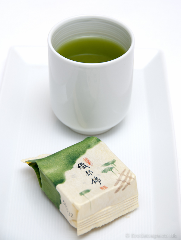 Oribenishiki with green tea