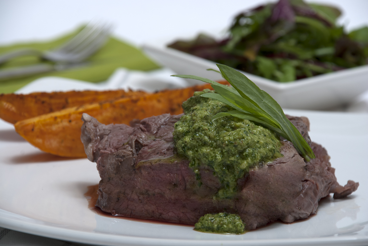 Beef with Walnut Pesto | Foodsnaps