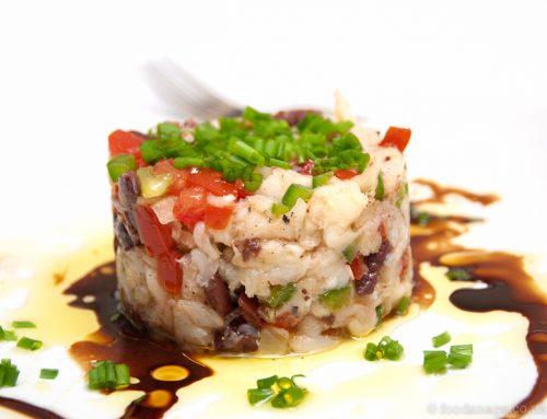 Salt cod salad (Esqueixada)