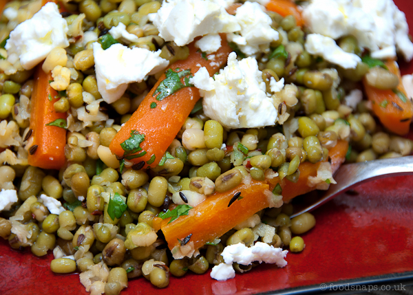 Carrot and Mung bean salad